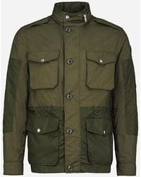 Moncler Regular-fit Field Jacket Donkergroen