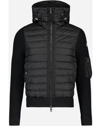 Moncler Gewatteerd Winddicht Sport Jacket Zwart