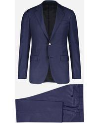 Ermenegildo Zegna Regular-fit Wollen Pak - Blauw