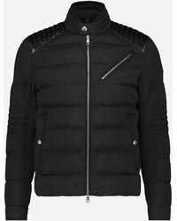 Moncler Slim-fit Biker Jacket 'samalens' Zwart