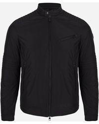 Moncler Bikerjacket Met Donsvoering 'gimont' Zwart