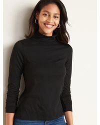 Old Navy Slim-fit Turtleneck For Women - Black