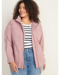 Old Navy Canvas Utility Plus-size Scout Jacket - Pink