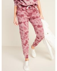 Old Navy Mid-rise Tapered-leg Jogger Pants - Pink