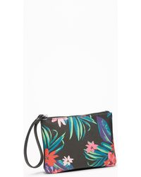Old Navy - Floral-print Faux-leather Wristlet - Lyst