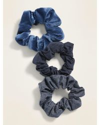 Old Navy Hair Scrunchie 3-pack - Blue