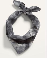 Old Navy Patterned Poplin Bandana For Adults - Gray