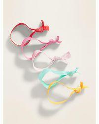 Old Navy Elastic Ribbon Hair Ties 5-pack - Multicolour