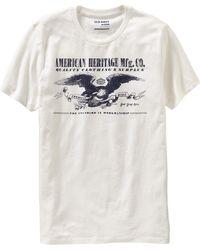 "Old Navy Men's ""american Heritage"" Tees - White"