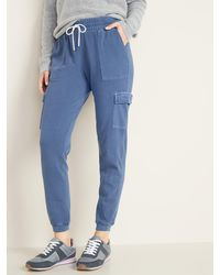 Old Navy French Terry Cargo Street Sweatpants For Women - Blue