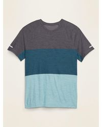 Old Navy Ultra-soft Breathe On Color-block Tee - Blue