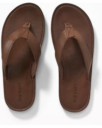 Old Navy - Faux-leather Sandals - Lyst