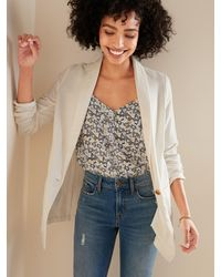 Old Navy Linen-blend Blazer For Women - Multicolor
