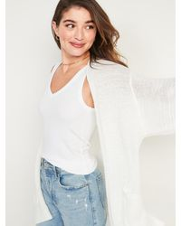 Old Navy Textured Open-front Sweater - White