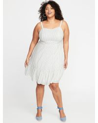 2e22a970f85 Old Navy - Plus-size Fit   Flare Striped Cami Dress - Lyst