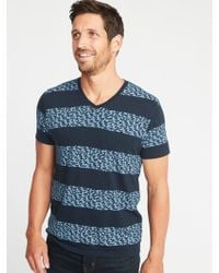 Old Navy - Soft-washed Printed Perfect-fit V-neck Tee - Lyst