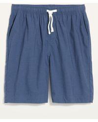 Old Navy Poplin Pyjama Shorts - Blue