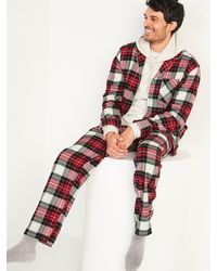 Old Navy Plaid Flannel Pajama Set - Red