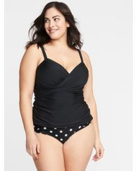 14ed58714e7 Lyst - Old Navy Seersucker-stripe Secret-slim Plus-size Swimsuit in Blue