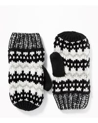Old Navy Sweater-knit Mittens - Black