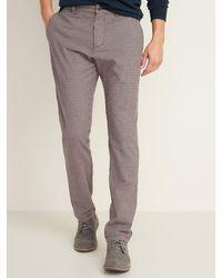 Old Navy Slim Built-in Flex Textured Ultimate Pants For Men - Gray