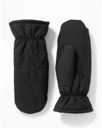 Old Navy Quilted Water-resistant Mittens - Black
