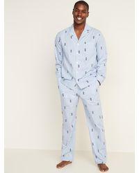 Old Navy Poplin Pyjama Set - Blue