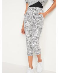 Old Navy - High-waisted Powersoft Crop Jogger Pants - Lyst
