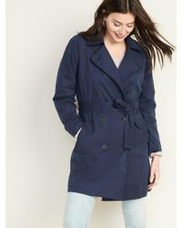 Old Navy Water-resistant Trench Coat - Blue