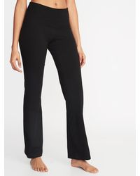 Old Navy High-waisted Slim Boot-cut Yoga Pants For Women - Black