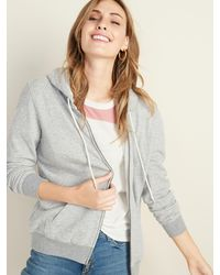 Old Navy Relaxed Zip Hoodie For Women - Gray