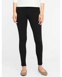 Old Navy High-waisted Stevie Ponte-knit Pants - Black