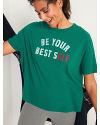 Old Navy Loose-fit Christmas Graphic Easy Tee - Green