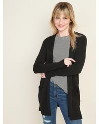 Old Navy Long-line Open-front Sweater - Black