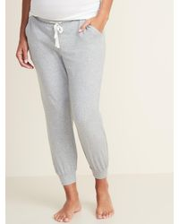 Old Navy Maternity Jersey Lounge Sweatpants - Gray