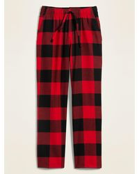 Old Navy Plaid Flannel Pajama Pants - Red