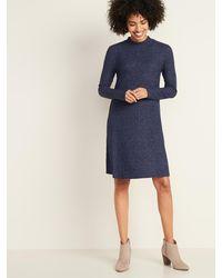 Old Navy - Brushed-knit Mock-neck Swing Dress For Women - Lyst