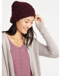 396f04e26f3 Old Navy - Textured Basket-weave Beanie - Lyst