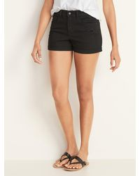 Old Navy Mid-rise Black Jean Shorts For Women - 3-inch Inseam