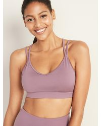 Old Navy Light Support Strappy Sports Bra For Women - Multicolor