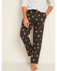Old Navy Printed Flannel Pajama Pants - Multicolor