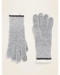 Old Navy Text-friendly Sweater-knit Gloves For Women - Gray
