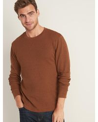 Old Navy Soft-washed Thermal-knit Tee For Men - Brown