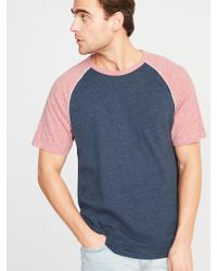 b60e6e4c Old Navy Soft-washed Color-blocked 3/4-sleeve Tee in Gray for Men - Lyst