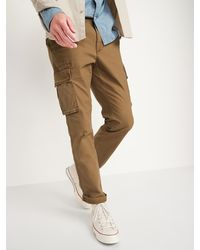 Old Navy Straight Lived-in Built-in Flex Khaki Cargo Pants - Brown
