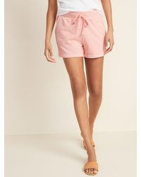Old Navy French Terry Drawstring Shorts For Women -- 3-inch Inseam - Pink