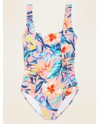 Old Navy Square-neck Swimsuit - Blue