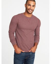 Old Navy - Soft-washed Thermal Crew-neck Tee - Lyst