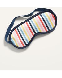 Old Navy Patterned Satin Sleep Mask For Adults - Blue