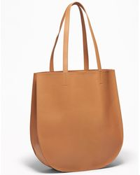 Old Navy Faux-leather Half-moon Tote - Brown